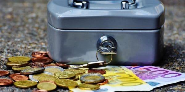 cash euro cashbox