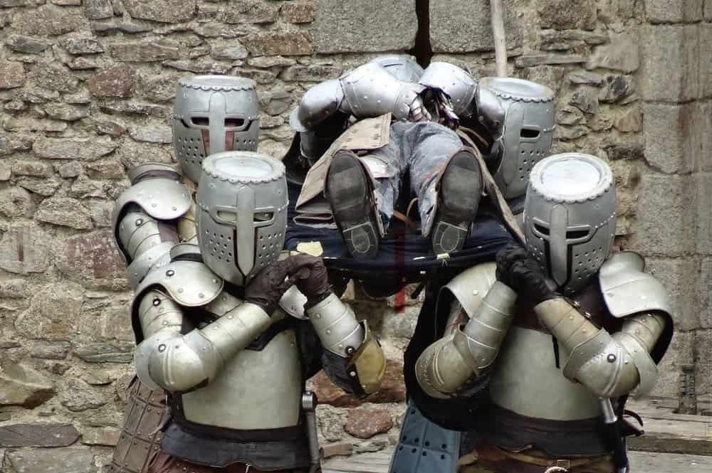 knights funeral