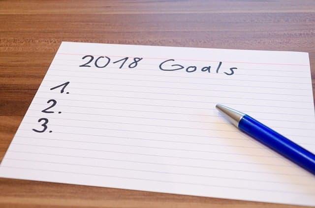 list of 2018 goals